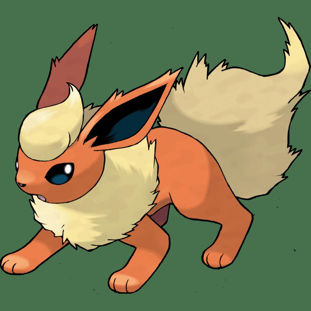 The Pokemon Flareon,