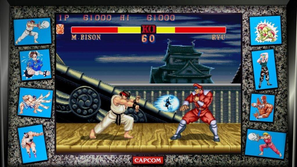 Street Fighter 2 Ryu vs Bison Hadouken