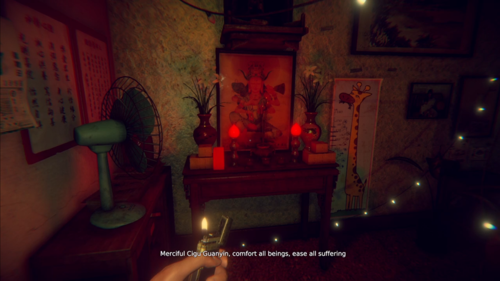 One of the many pieces of religious iconography the player will encounter.