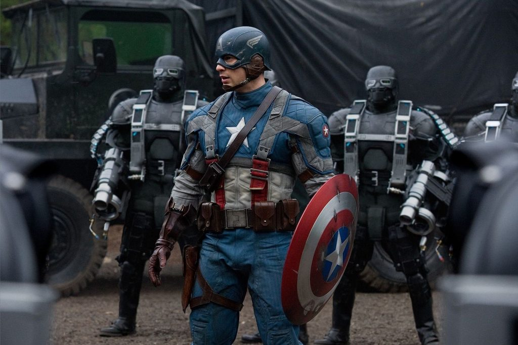 A still from Captain America: The First Avenger the first MCU movie to watch in chronological order.