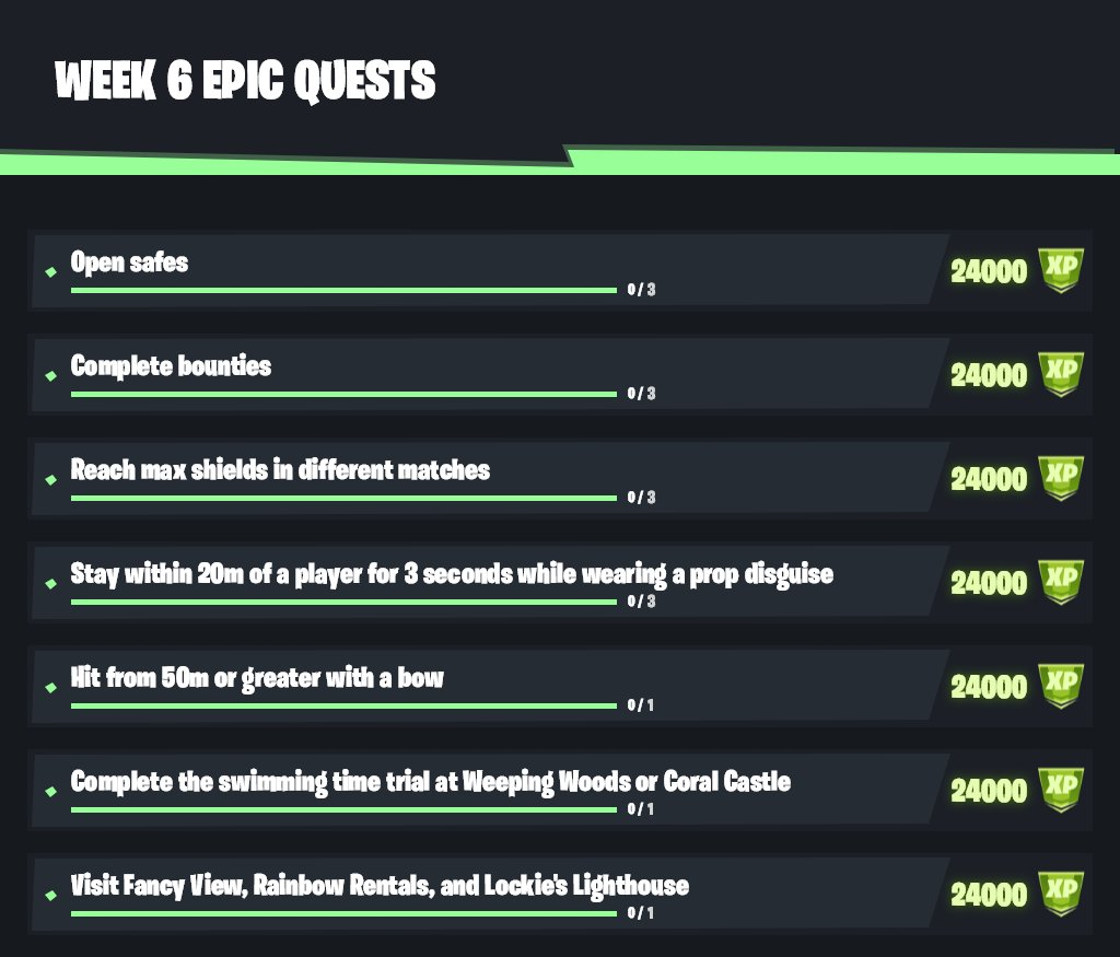 Where Are The Time Trials Located In Fortnite Season 5 Fortnite Season 6 Week 6 Challenge Guide The Click