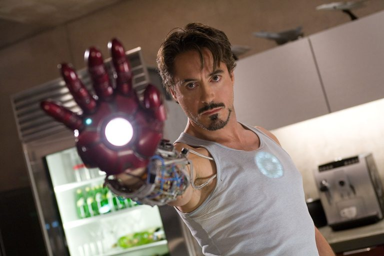 A still from Iron Man the third movie in the MCU in chronological order.