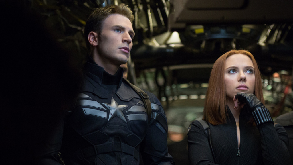 A still from Captain America: The Winter Soldier the 10 movie in the MCU in chronological order.