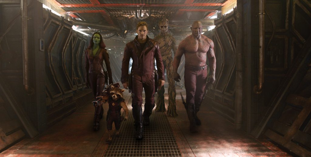 A still from Guardians of the Galaxy the 11 movie in the MCU in chronological order.