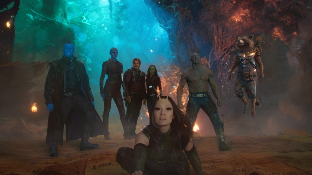 A still from Guardians of the Galaxy Vol. 2 the 12 movie in the MCU in chronological order.
