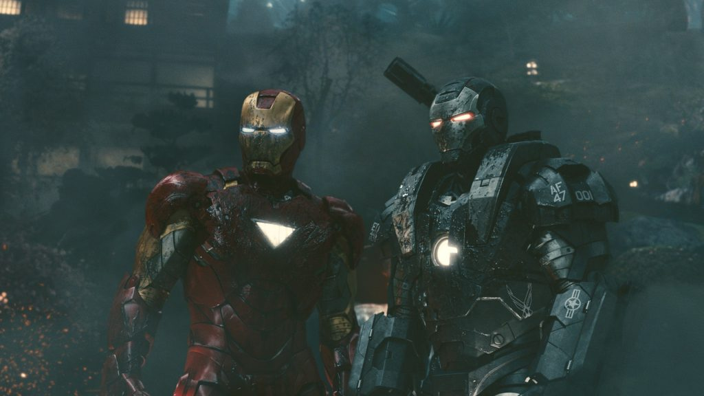A still from Iron Man 2 the fourth movie in the MCU in chronological order.