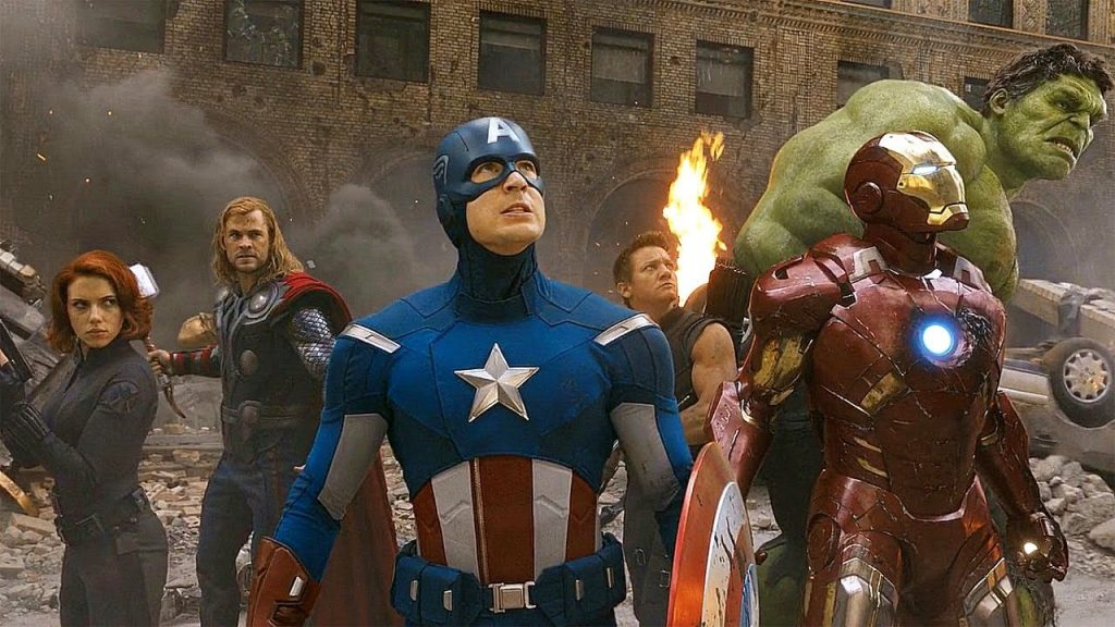 A still from The Avengers the seventh movie in the MCU in chronological order.