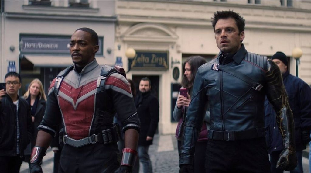 A still from The Falcon and the Winter Soldier the 24 property in the MCU in chronological order.