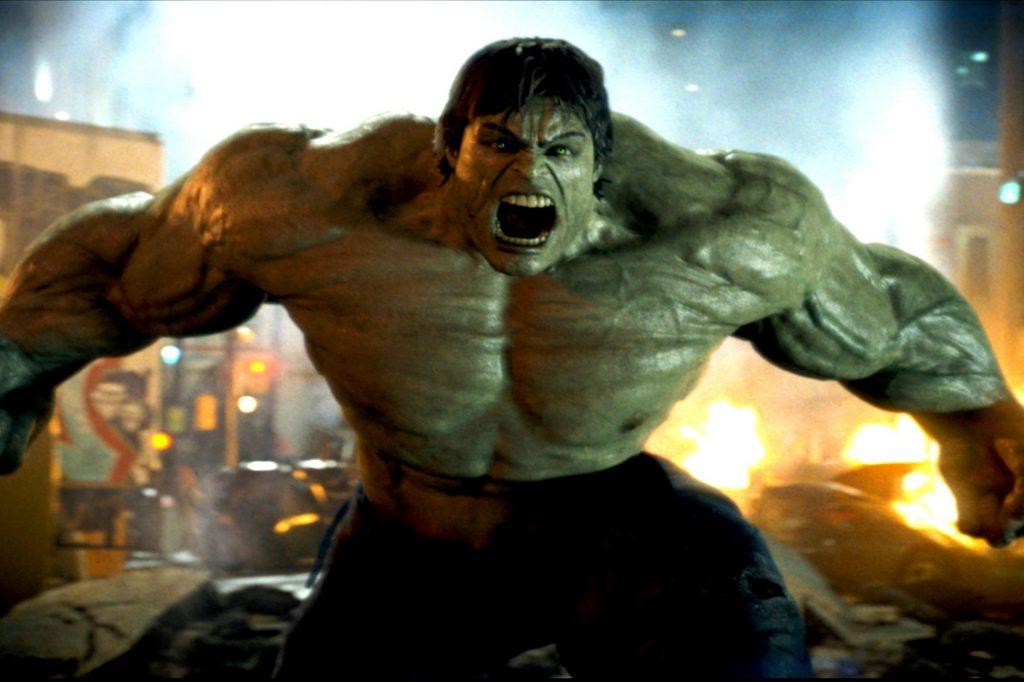 A still from The Incredible Hulk the fifth movie in the MCU in chronological order.