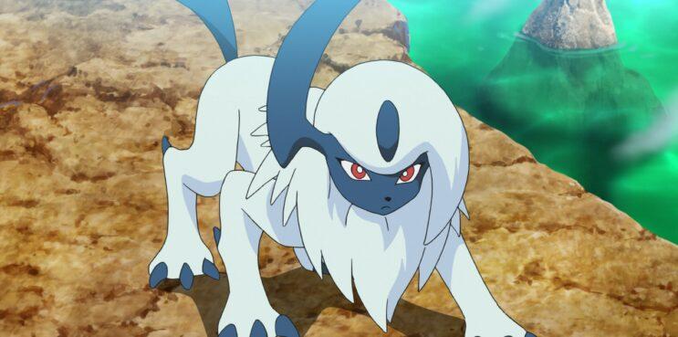The Pokemon Absol in the Pokemon Anime