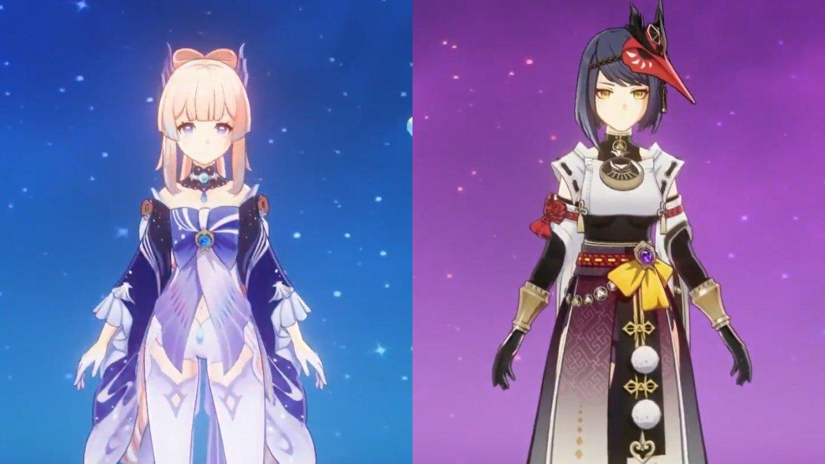 Genshin Impact 2 1 Leaks Sara And Kokomi S Character Screen Visuals Leaked The Click