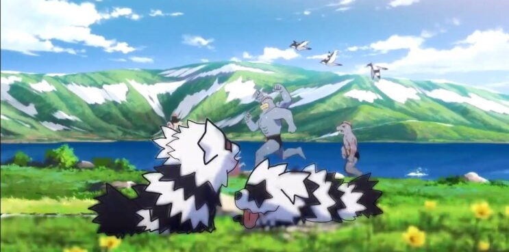 A brief shot of Galarian Zigzagoon in the Pokemon anime