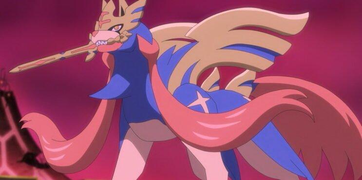 Crowned Sword Zacian in Pokemon Anime