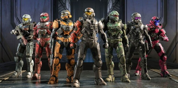 Halo Infinite assorted Spartans