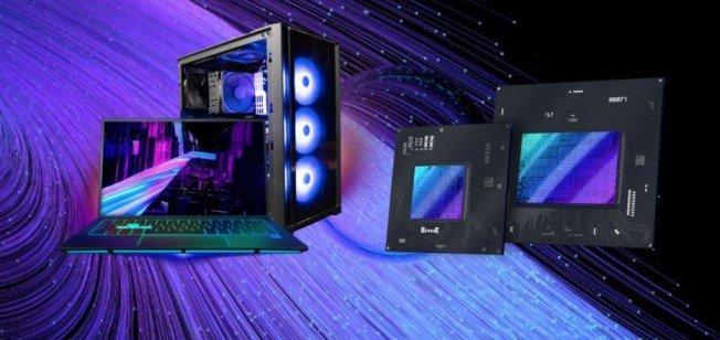 Intel Arc graphics card example used Intel Arc piece