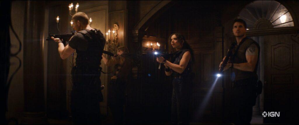 Resident Evil Welcome To Raccoon City Albert Wesker Chris Redfield Jill Valentine Richard Aiken Spencer Mansion