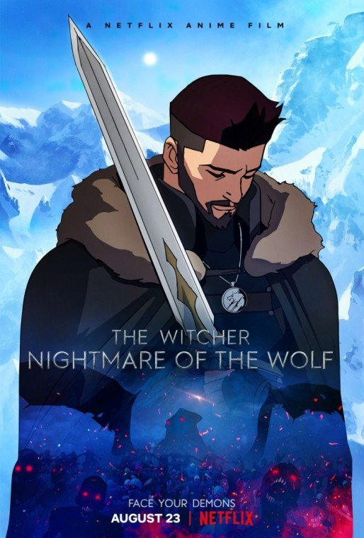Witcher: Nightmare of the Wolf poster used in new trailer piece