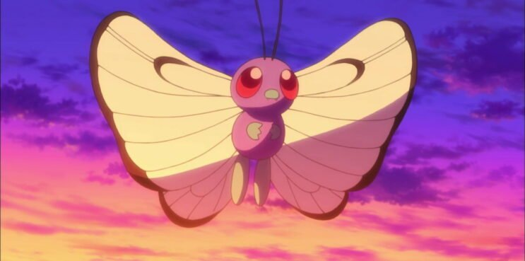 Butterfree in the Pokemon Anime