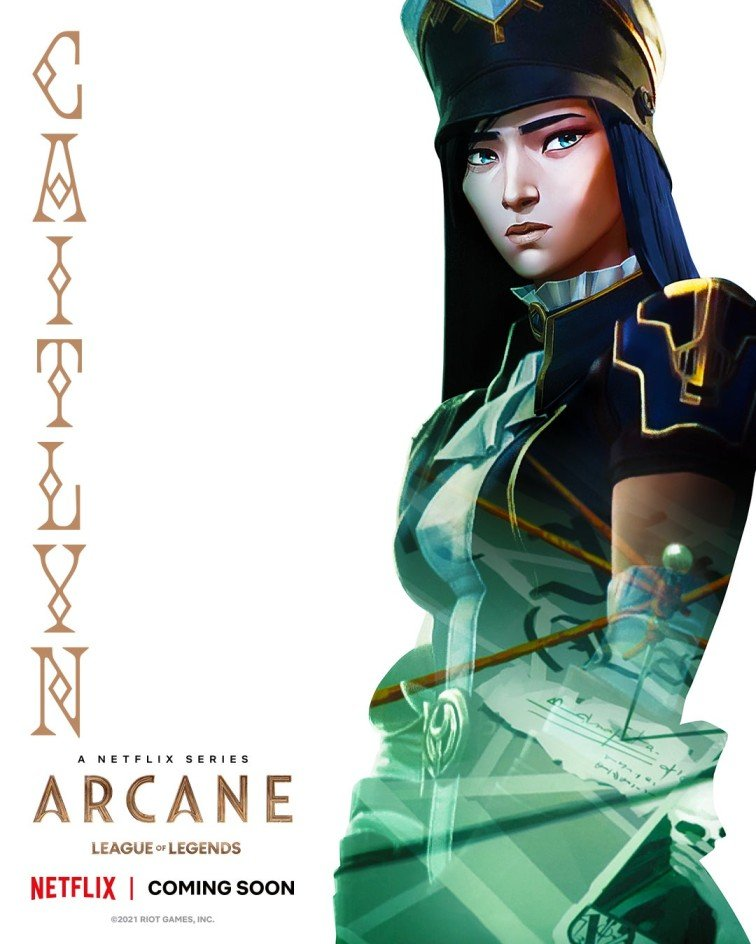 Caitlyn character poster used in League of Legends Arcane piece