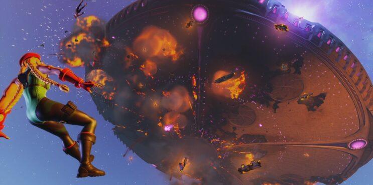 Fortnite Chapter 2 Season 7 Event Mothership Exploding