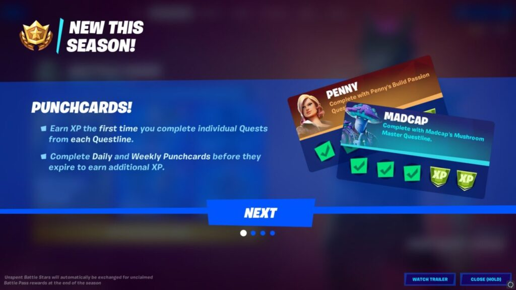 Fortnite Chapter 2 Season 8 Punch Card Announcement
